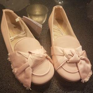 NEW Zara Girls Pink Dress Shoes sz 2